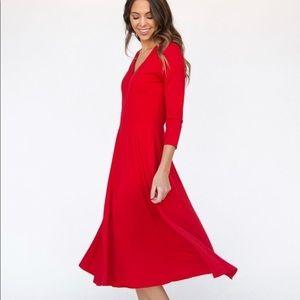 Agnes & Dora Dresses - Agnes & Dora Curie Dress Red baby suede Small